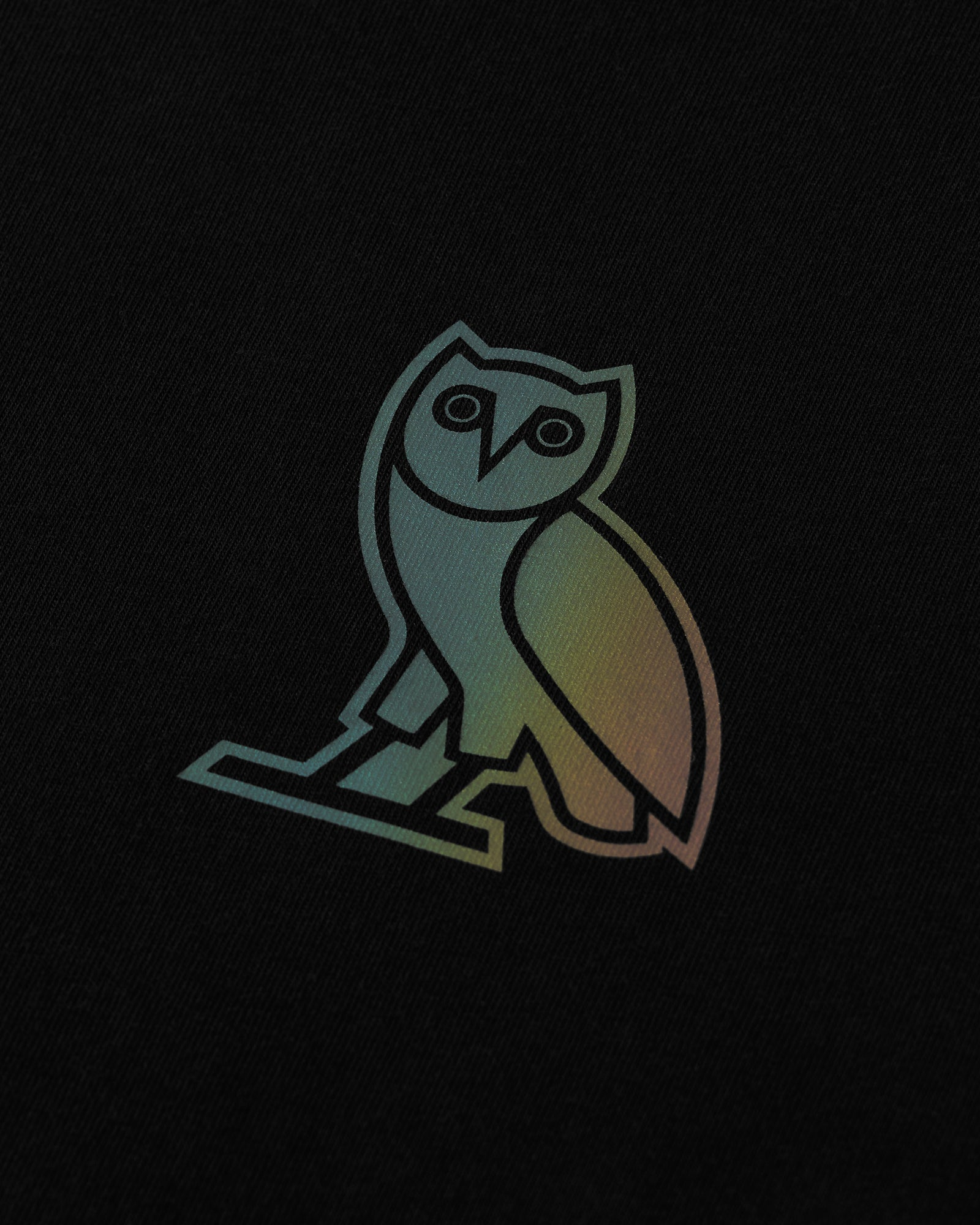 HOLOGRAM OWL T-SHIRT - BLACK IMAGE #2