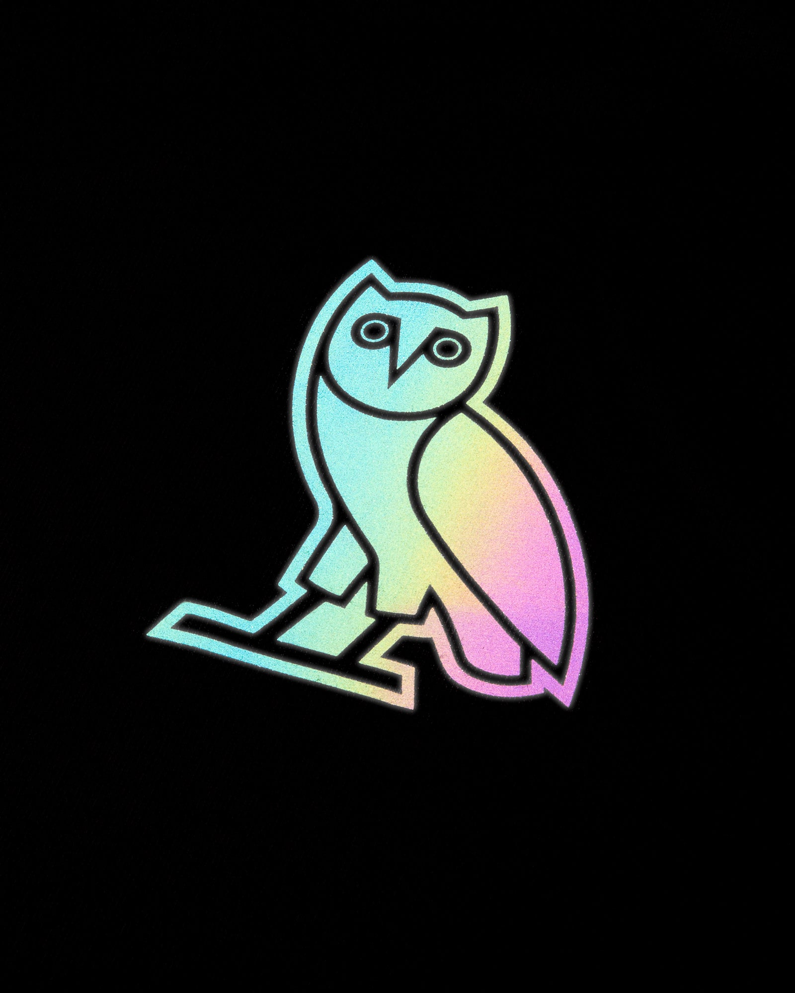 HOLOGRAM OWL T-SHIRT - BLACK IMAGE #3