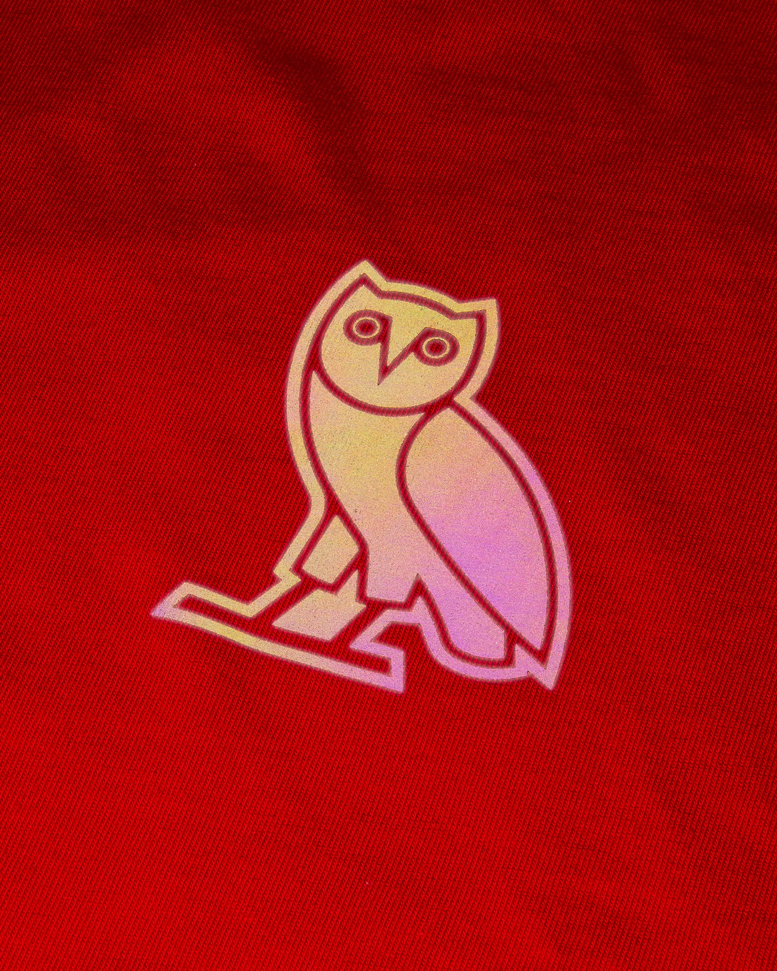 HOLOGRAM OWL T-SHIRT - RED IMAGE #3