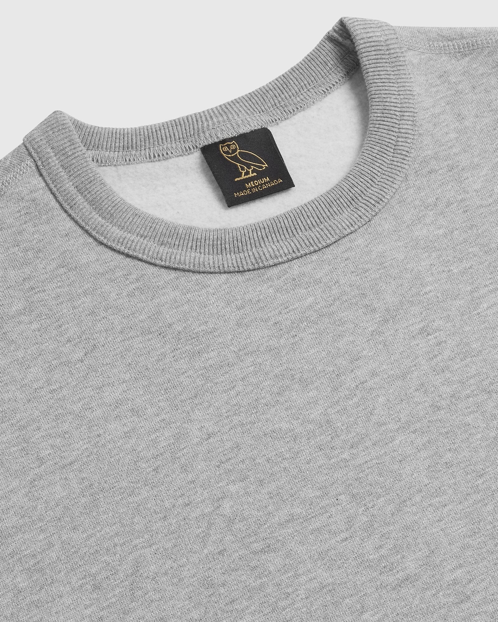OVO HOT SKULLS™ CREWNECK - HEATHER GREY IMAGE #2