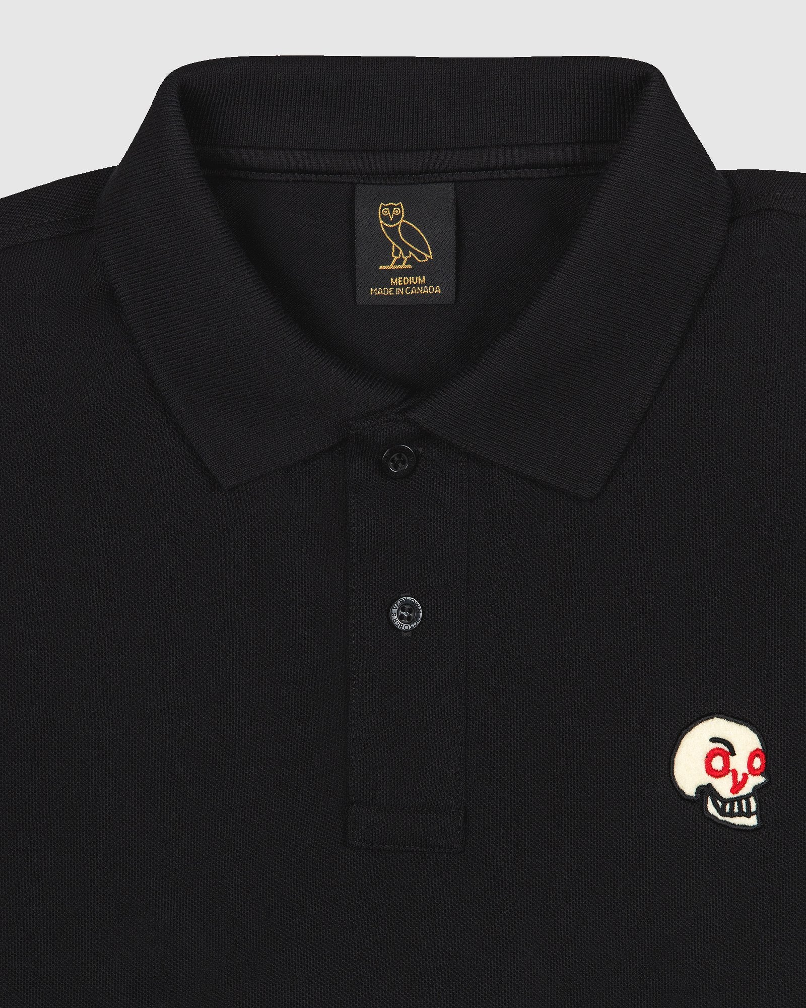OVO HOT SKULLS™ POLO - BLACK IMAGE #2