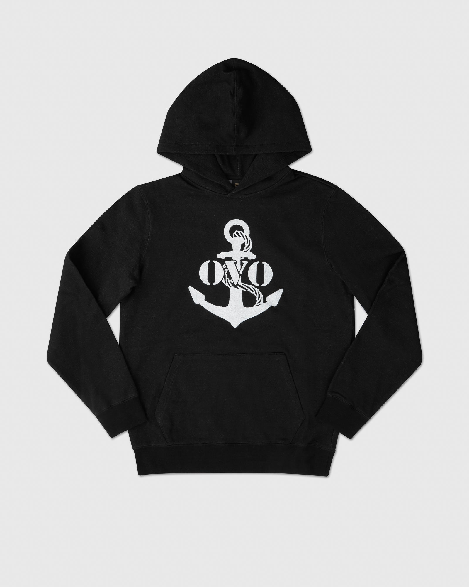 NAUTICAL INDIGO FLEECE HOODIE - BLACK IMAGE #1