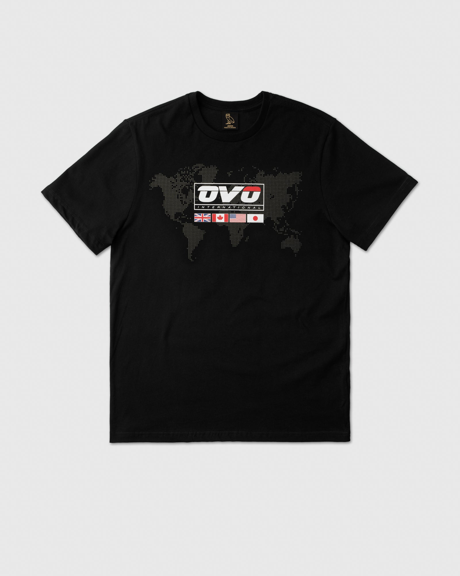 OVO INTERNATIONAL GRID T-SHIRT - BLACK IMAGE #1