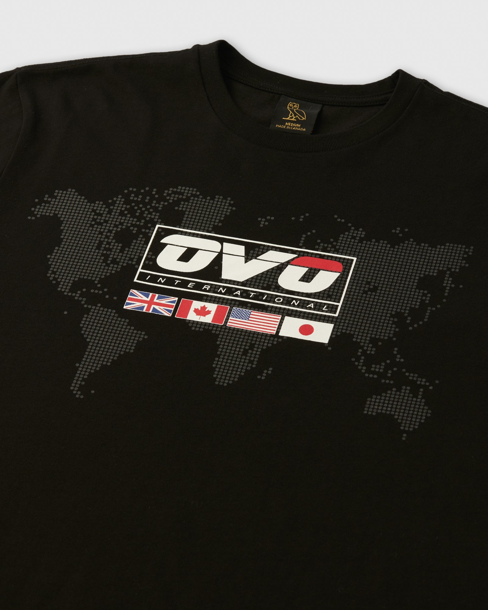 OVO INTERNATIONAL GRID T-SHIRT - BLACK IMAGE #2