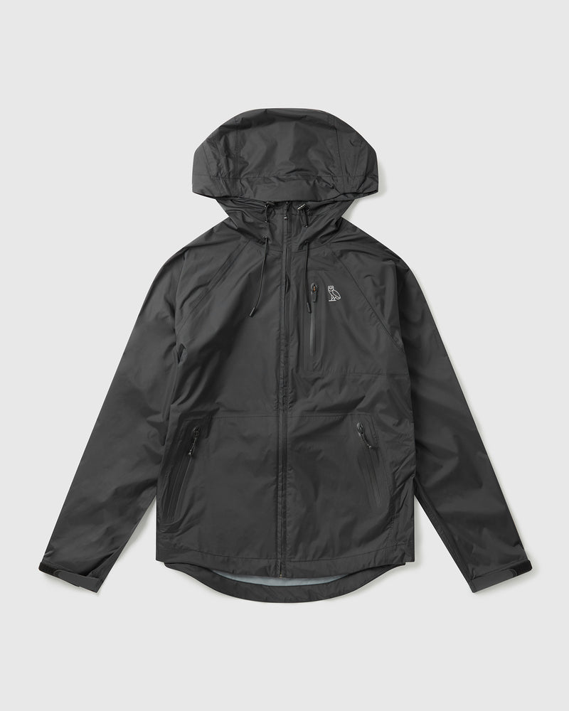 LIGHTWEIGHT RAIN SHELL - BLACK