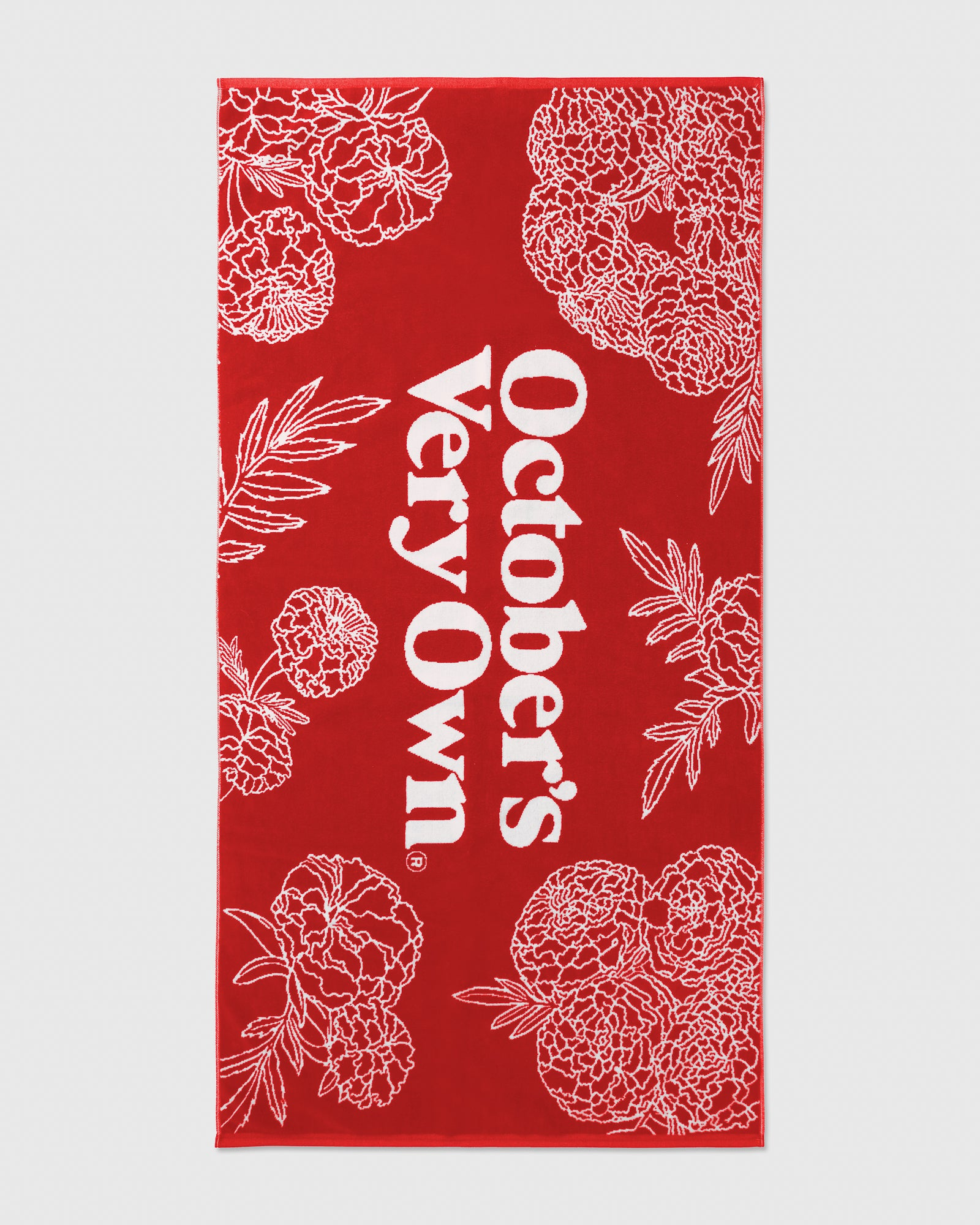 MARIGOLD BEACH TOWEL - RED IMAGE #1