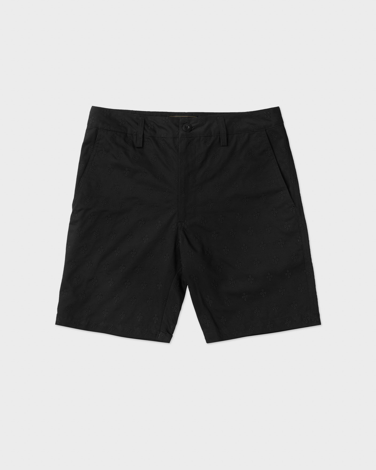 MONOGRAM EMBROIDERED SHORT - BLACK IMAGE #1