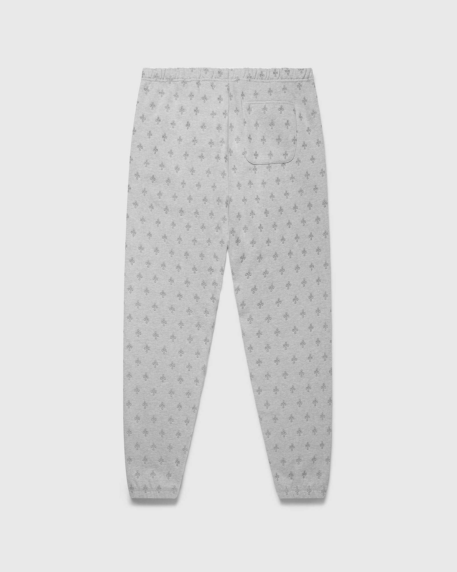 MONOGRAM SWEATPANT - HEATHER GREY IMAGE #2