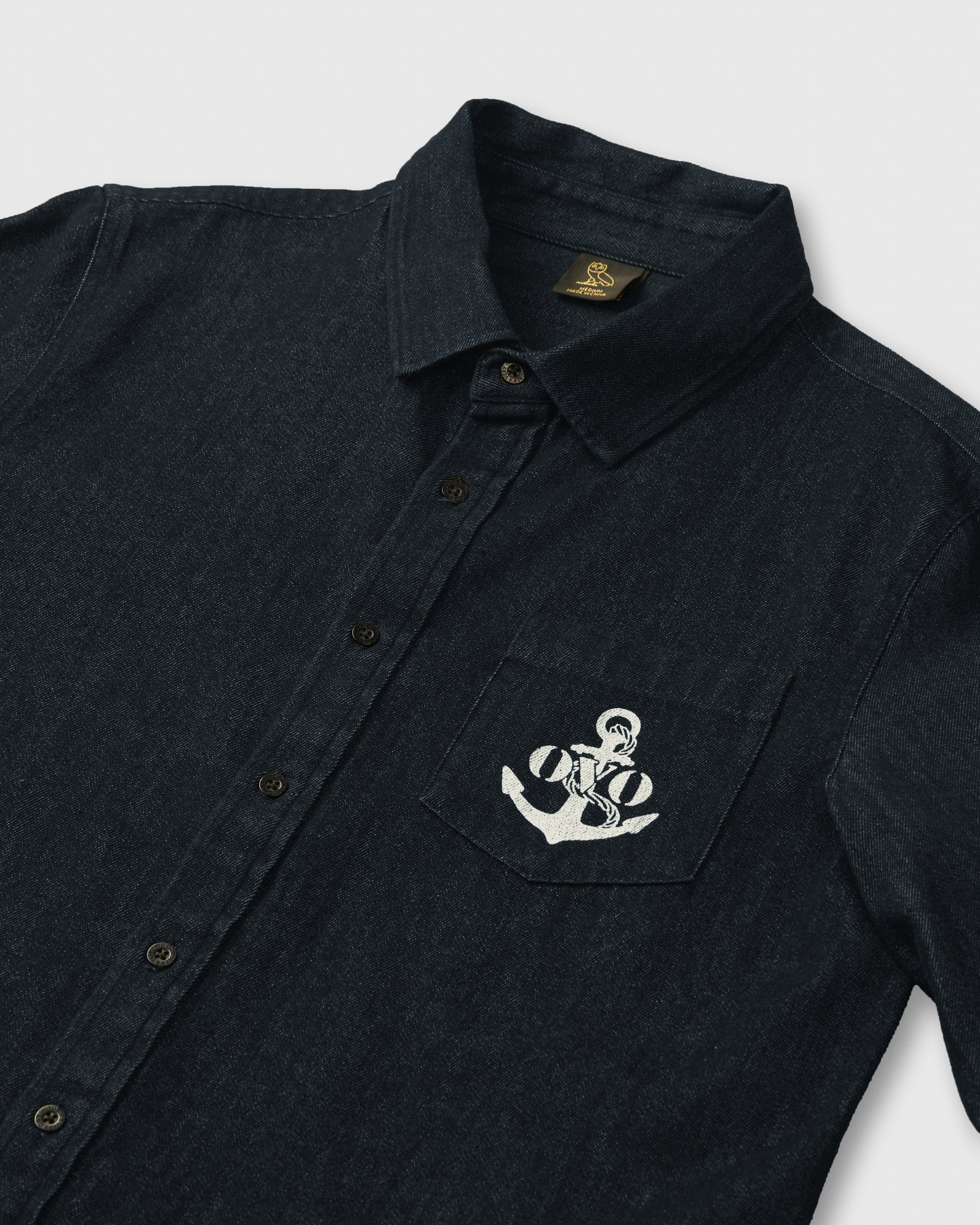 NAUTICAL DENIM SHIRT - INDIGO IMAGE #3