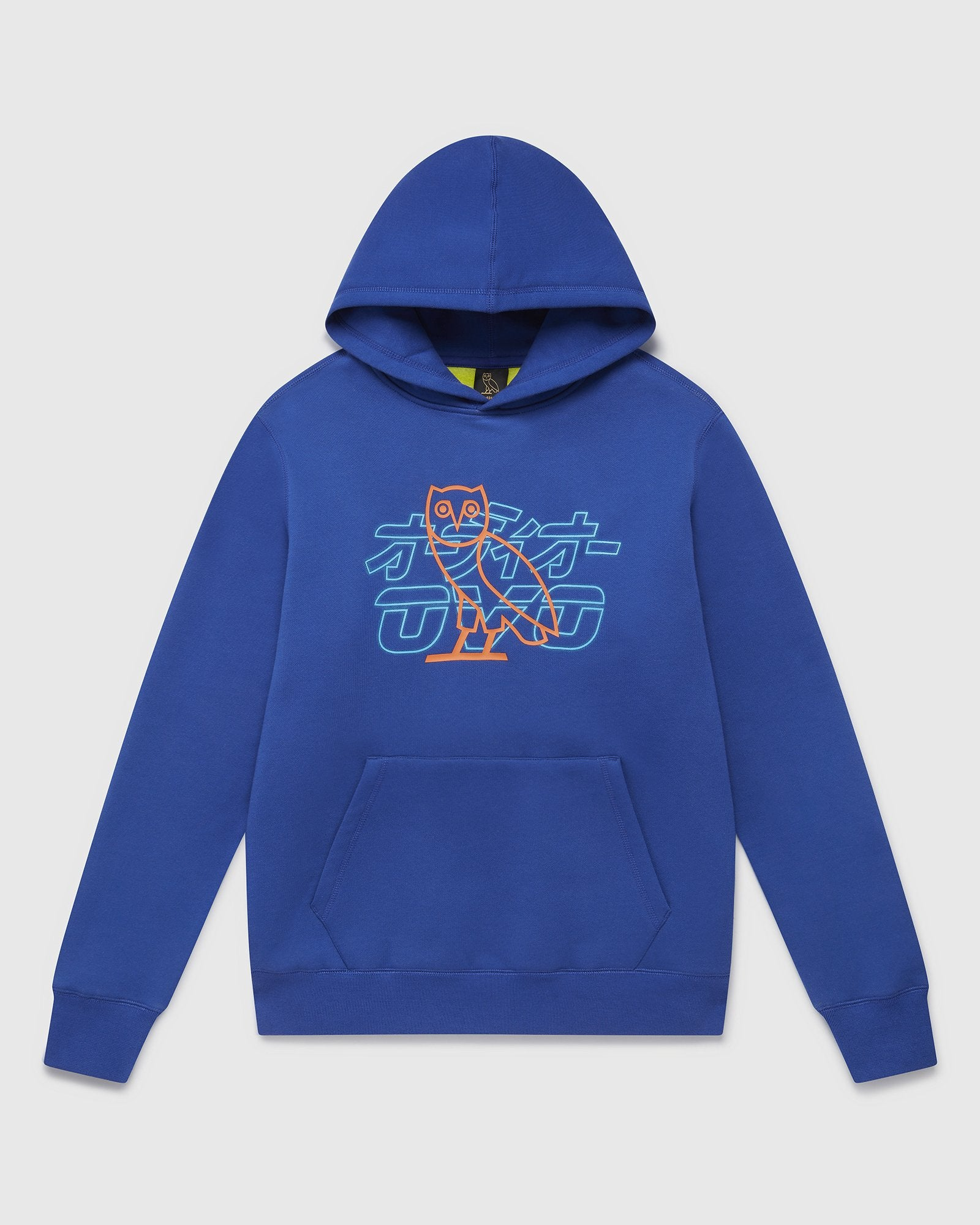 NEON LIGHT HOODIE - ROYAL BLUE/LIME IMAGE #1