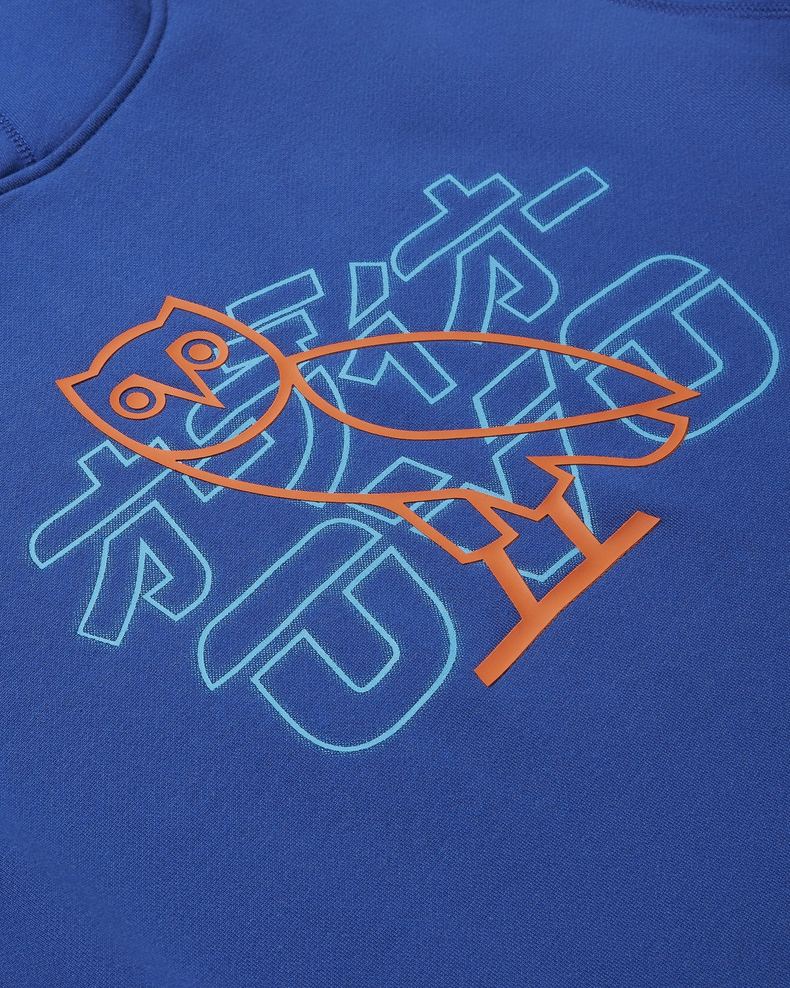 NEON LIGHT HOODIE - ROYAL BLUE/LIME IMAGE #3