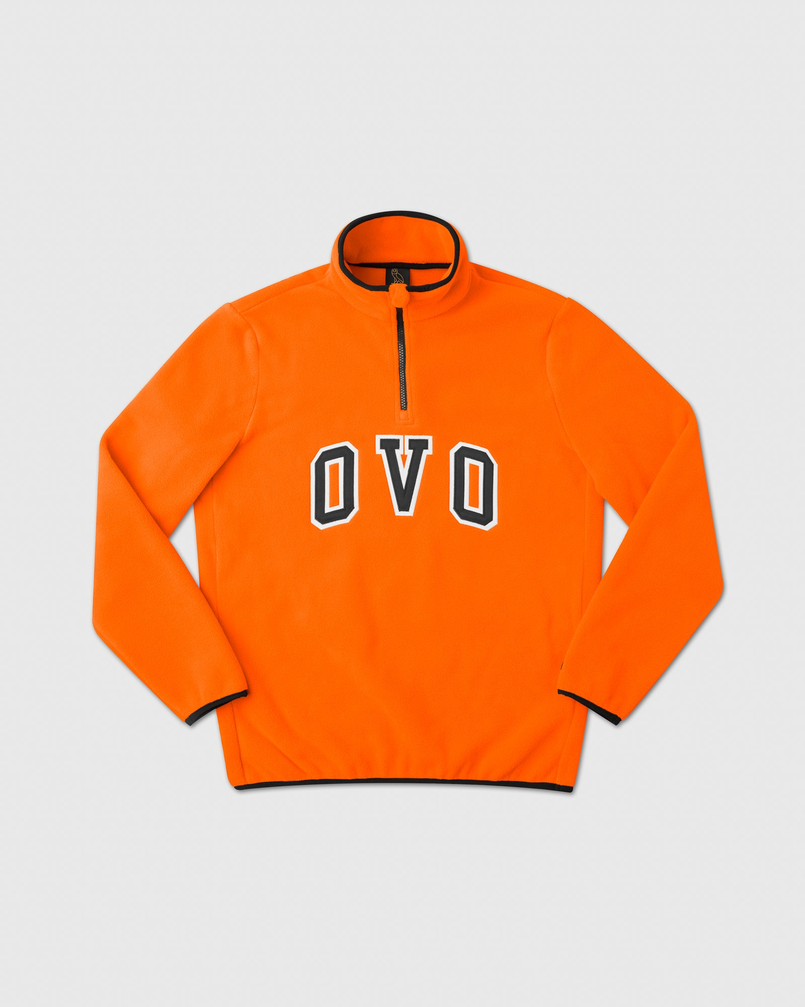 OVO ARCH POLAR FLEECE HALF ZIP - ORANGE IMAGE #1