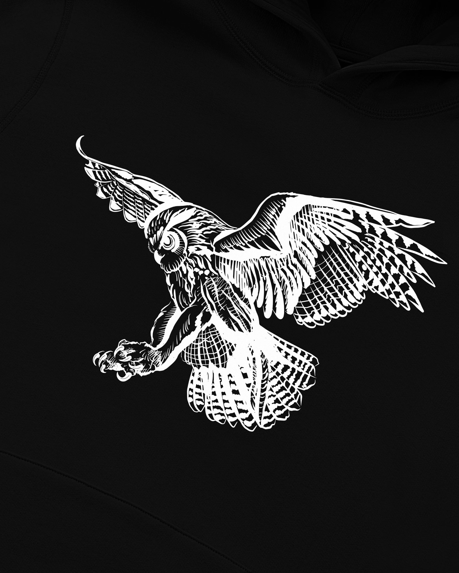 BIRD OF PREY HOODIE - BLACK IMAGE #3