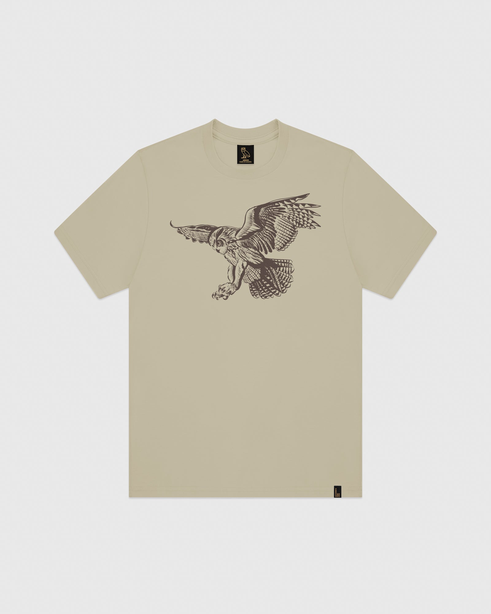 BIRD OF PREY T-SHIRT - KHAKI IMAGE #1