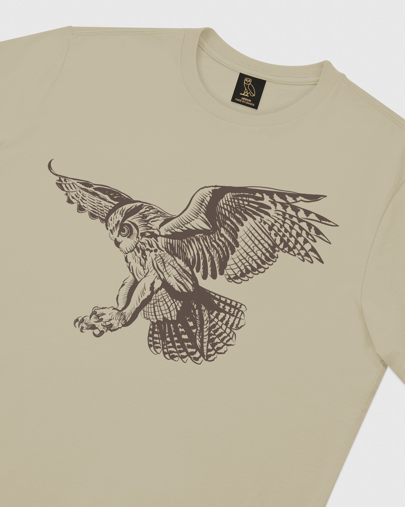 BIRD OF PREY T-SHIRT - KHAKI IMAGE #3