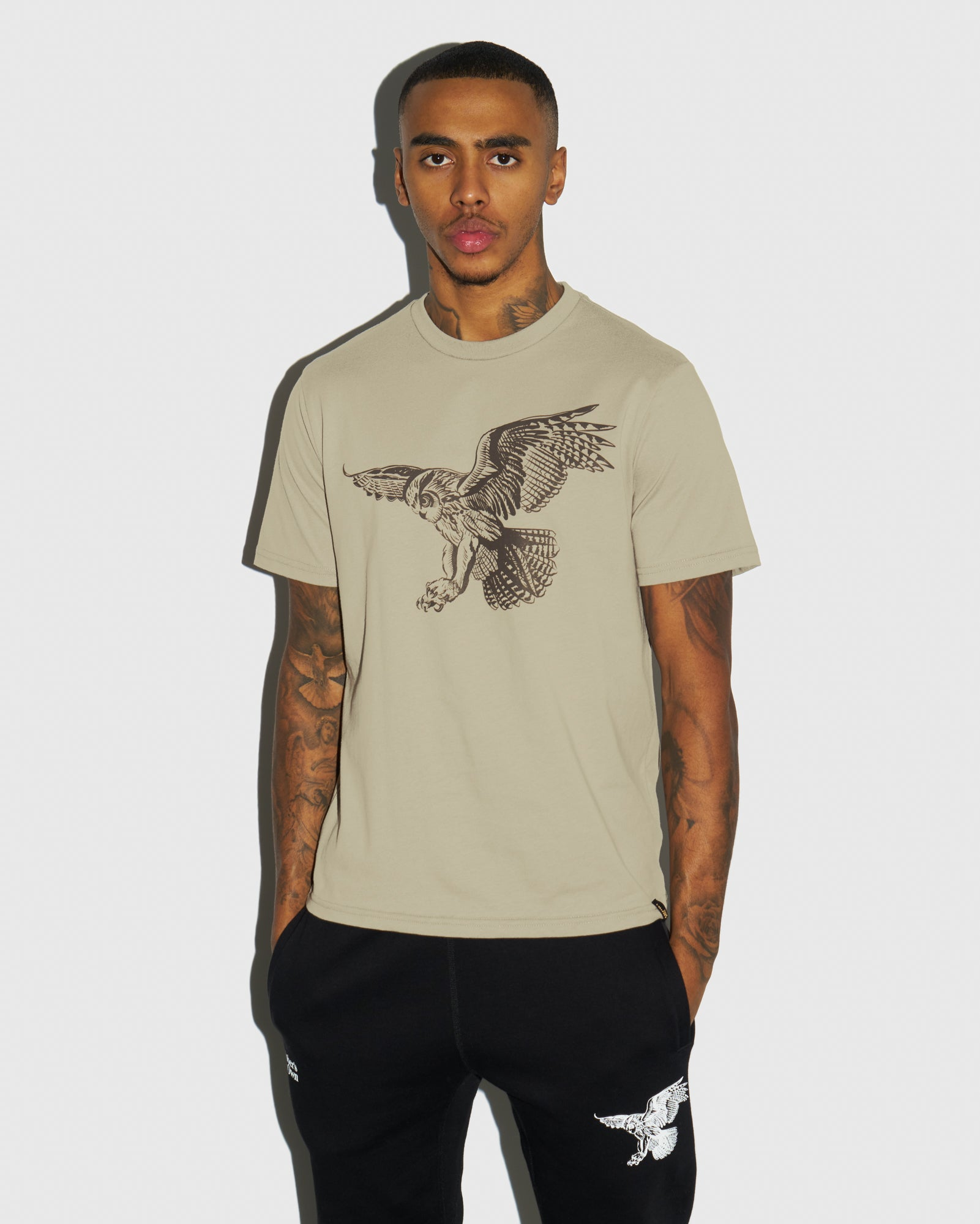 BIRD OF PREY T-SHIRT - KHAKI IMAGE #2