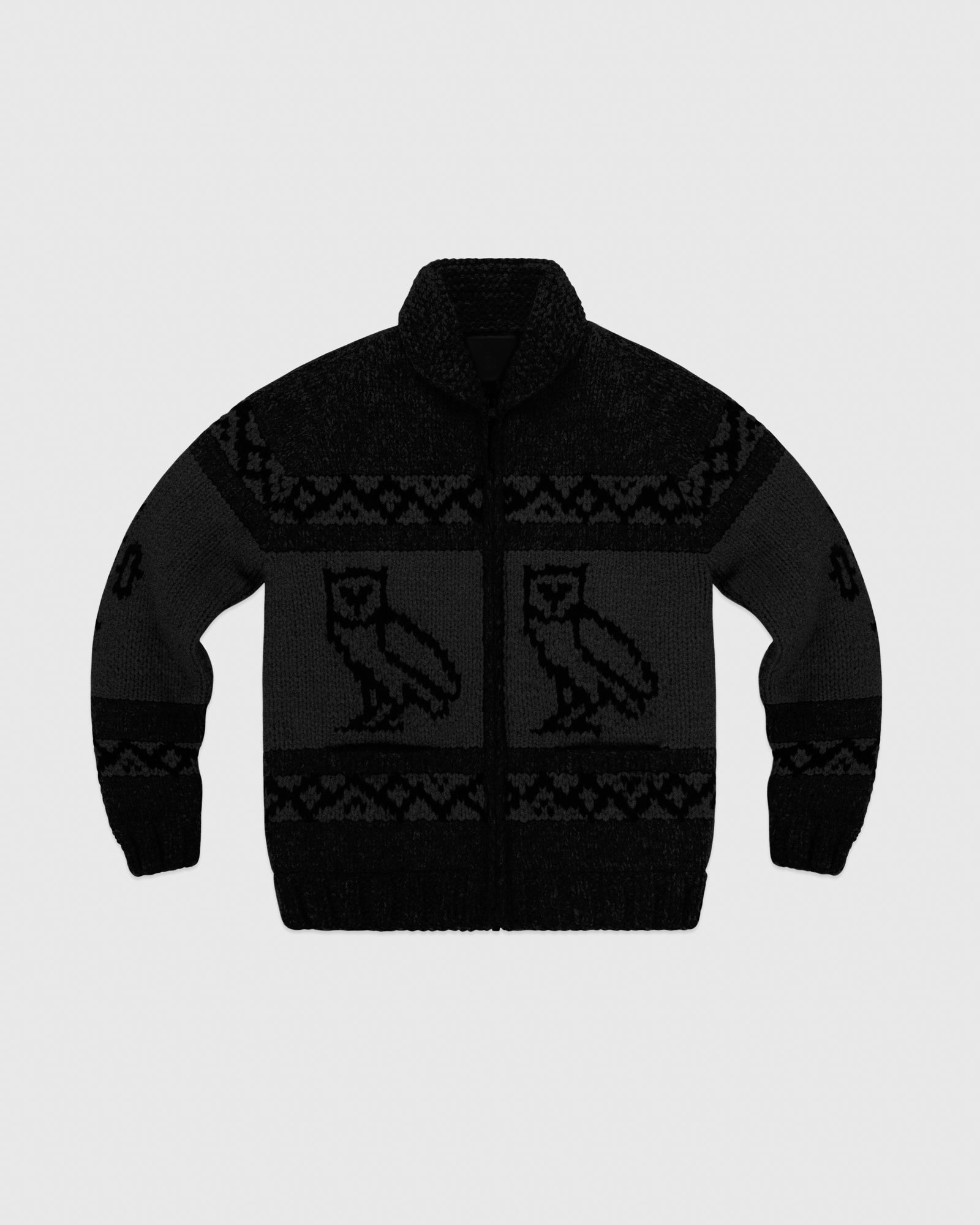 CANADIAN WOOL SWEATER - BLACK IMAGE #1