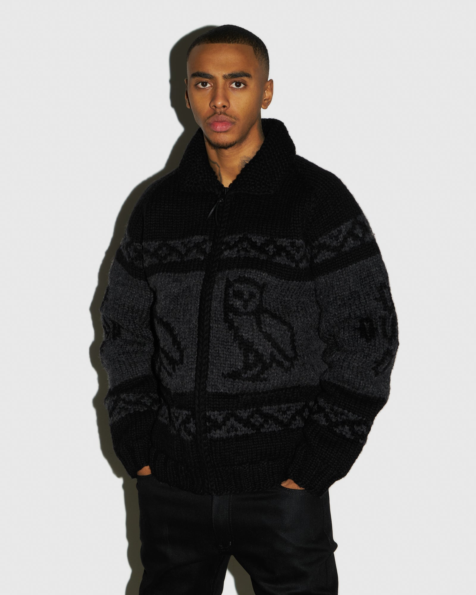 CANADIAN WOOL SWEATER - BLACK IMAGE #2
