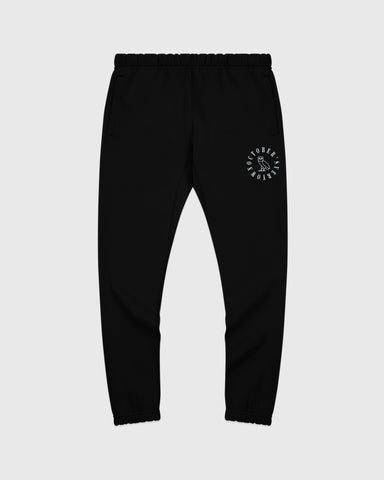 CIRCLE WORDMARK SWEATPANT - BLACK