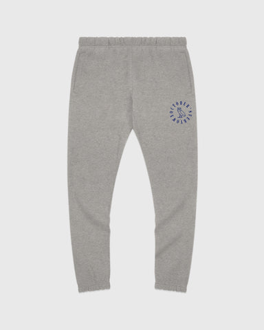 CIRCLE WORDMARK SWEATPANT - HEATHER GREY