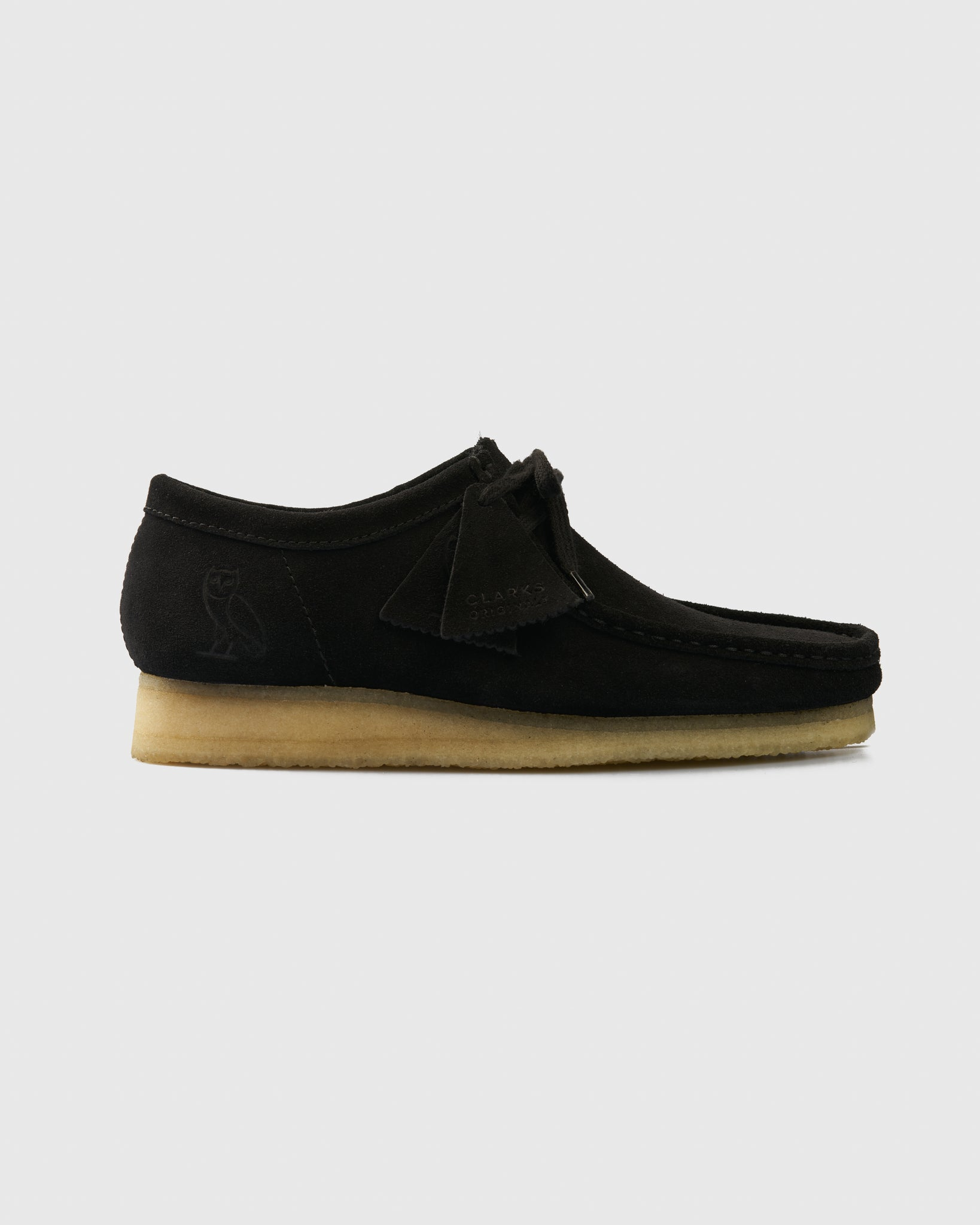 OVO x CLARKS ORIGINALS WALLABEE - BLACK IMAGE #1