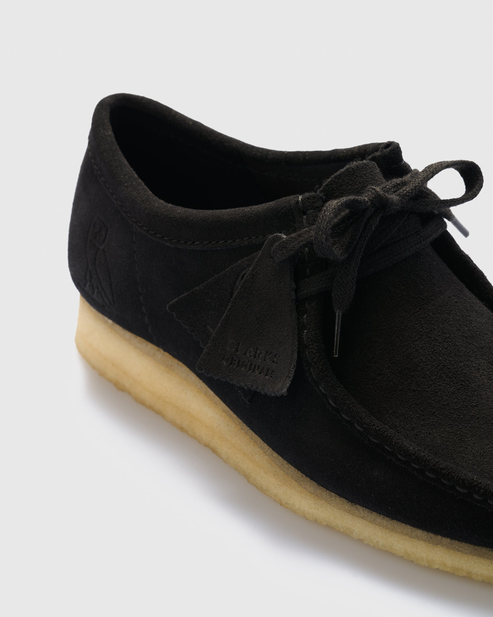 OVO x CLARKS ORIGINALS WALLABEE - BLACK IMAGE #3