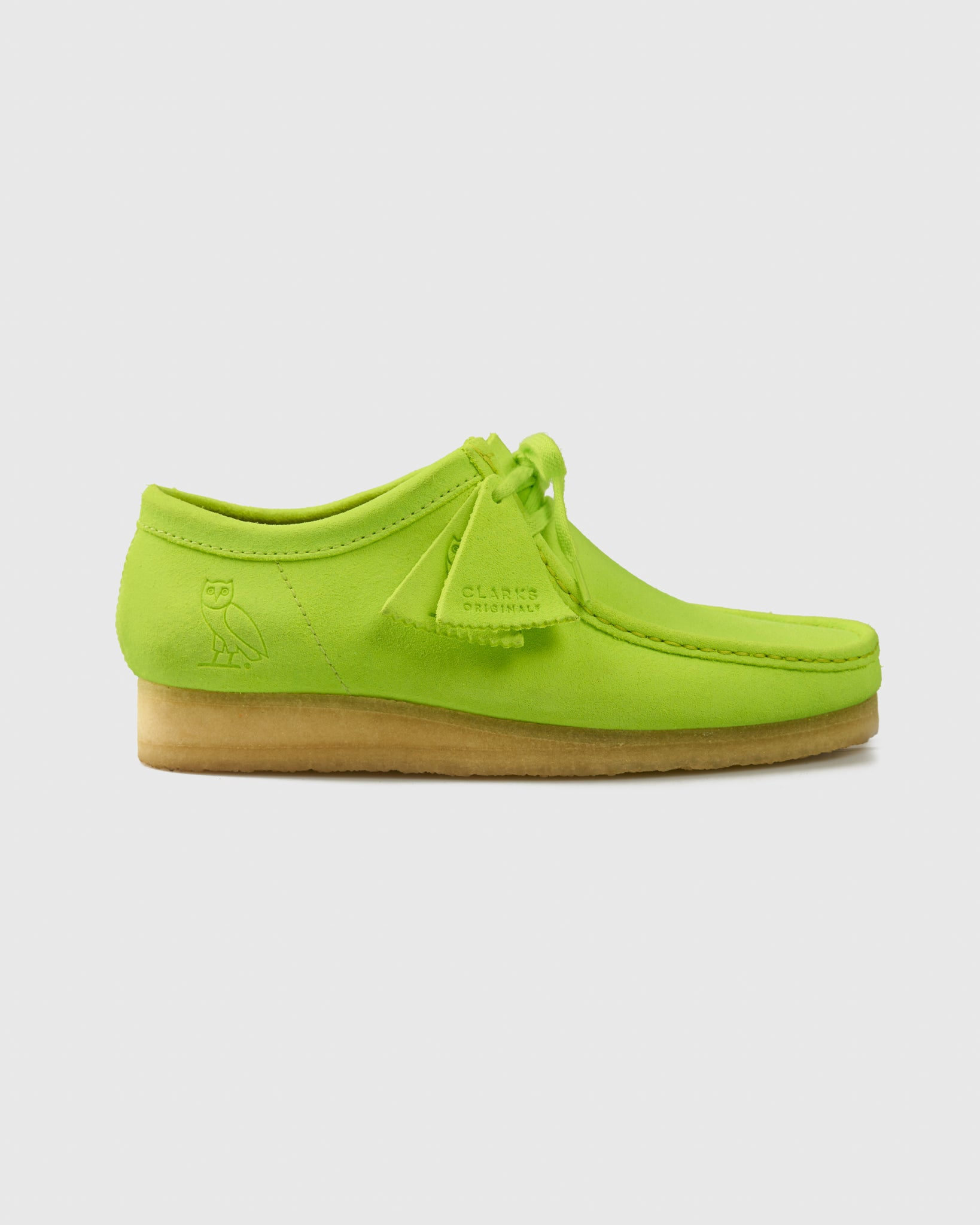 OVO x CLARKS ORIGINALS WALLABEE - LIME IMAGE #1