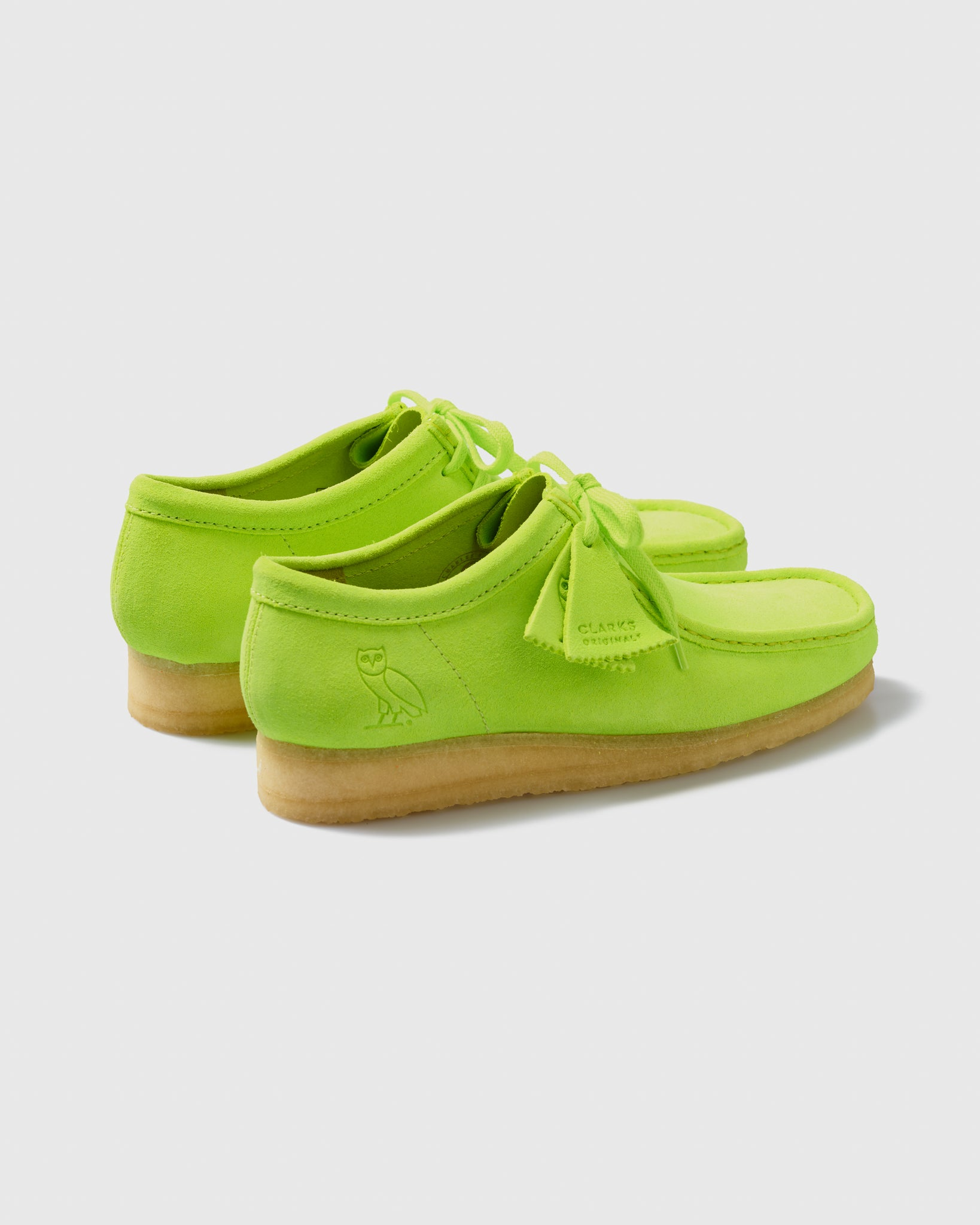 OVO x CLARKS ORIGINALS WALLABEE - LIME IMAGE #2