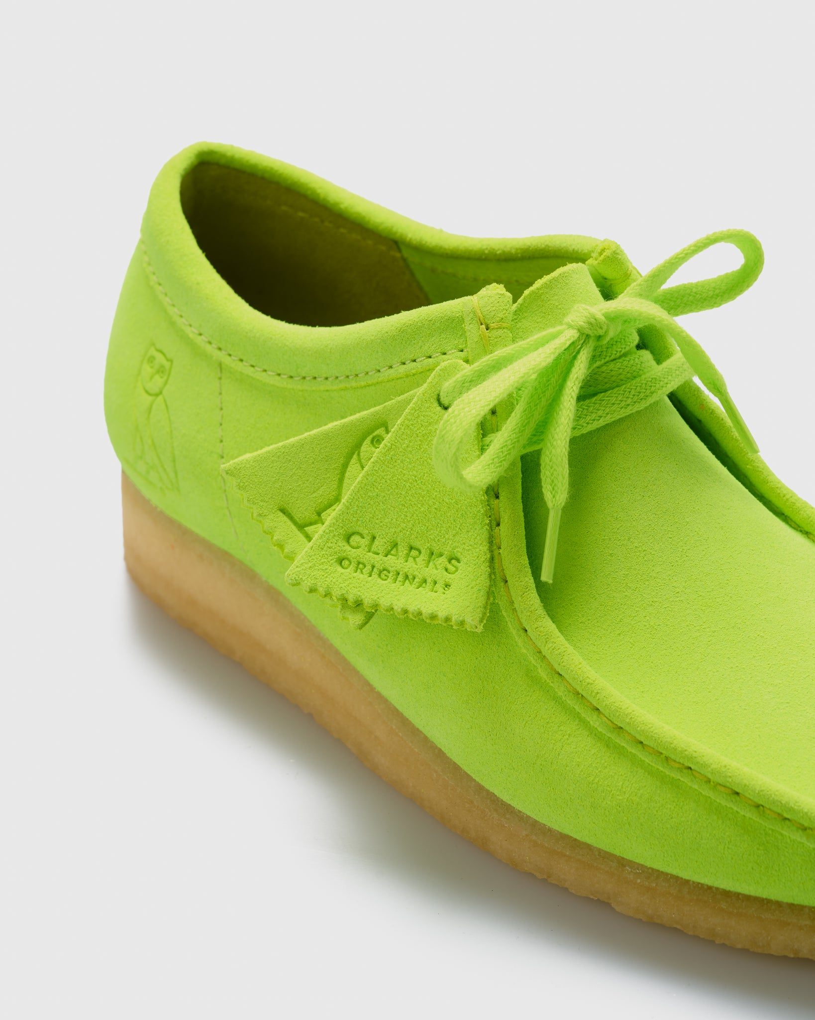 OVO x CLARKS ORIGINALS WALLABEE - LIME IMAGE #3