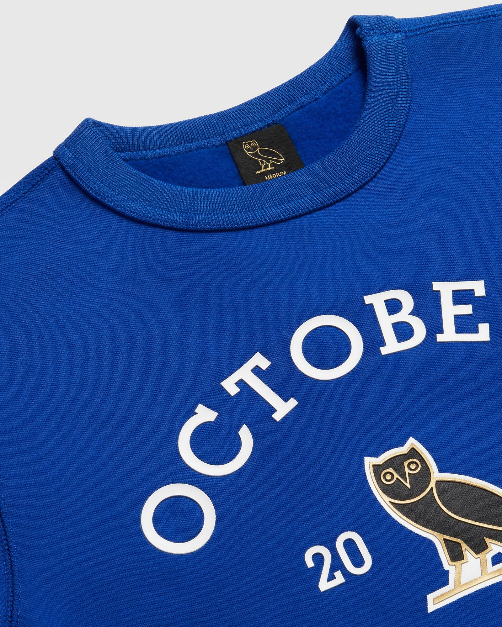OVO COLLEGIATE CREWNECK - ROYAL BLUE IMAGE #3