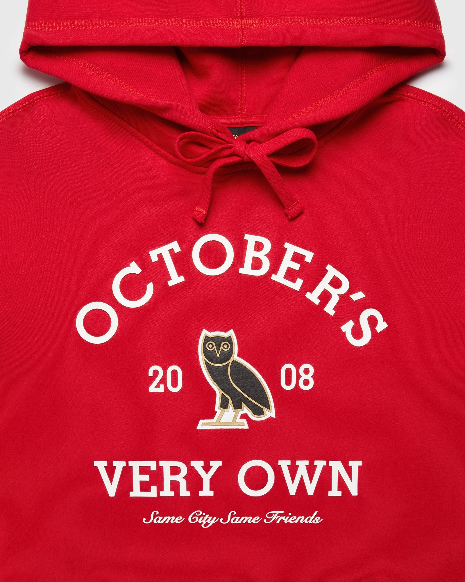 OVO COLLEGIATE HOODIE - RED IMAGE #3