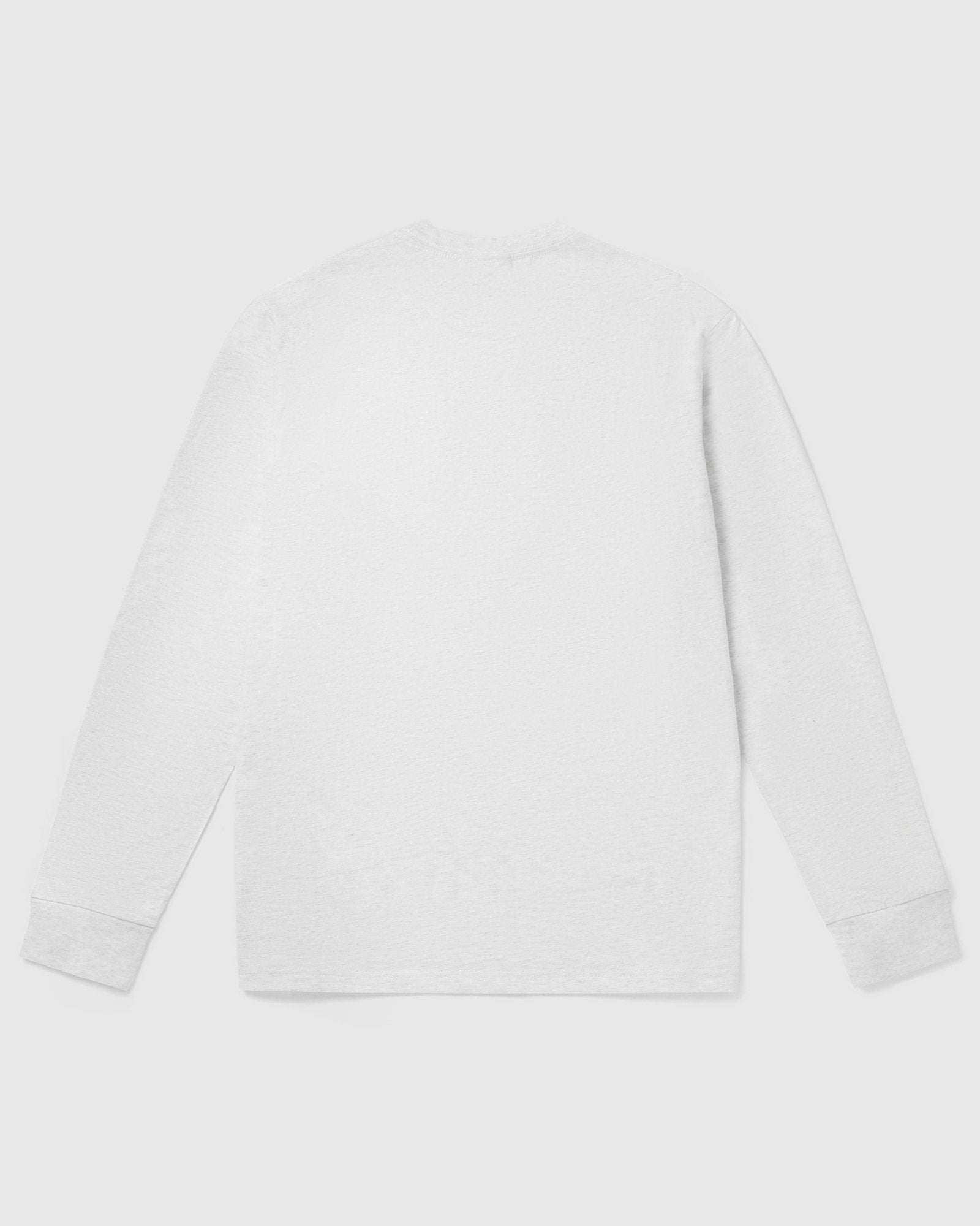 OVO COLLEGIATE LONGSLEEVE T-SHIRT - ASH HEATHER GREY IMAGE #2