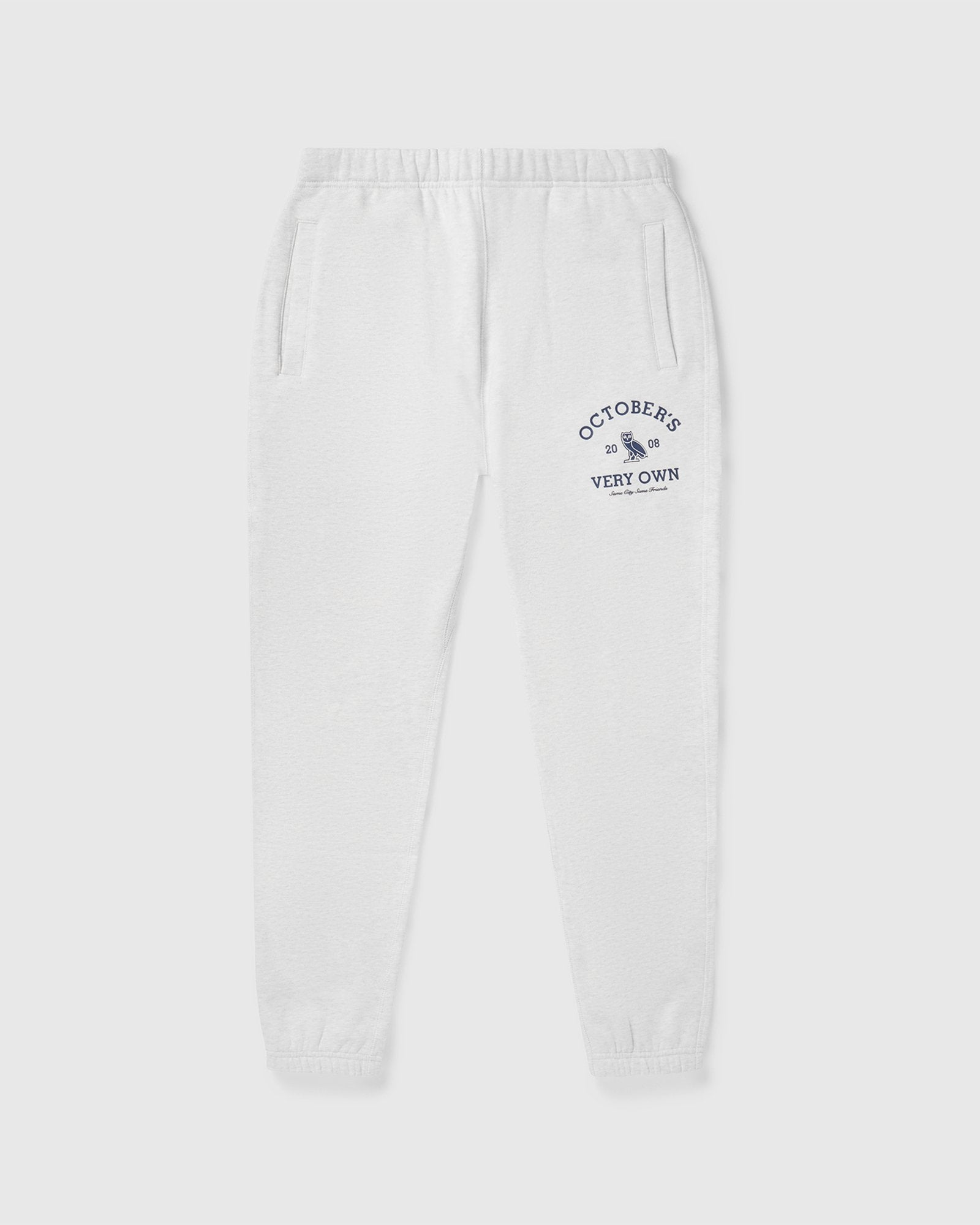 OVO COLLEGIATE SWEATPANT - ASH HEATHER GREY IMAGE #1