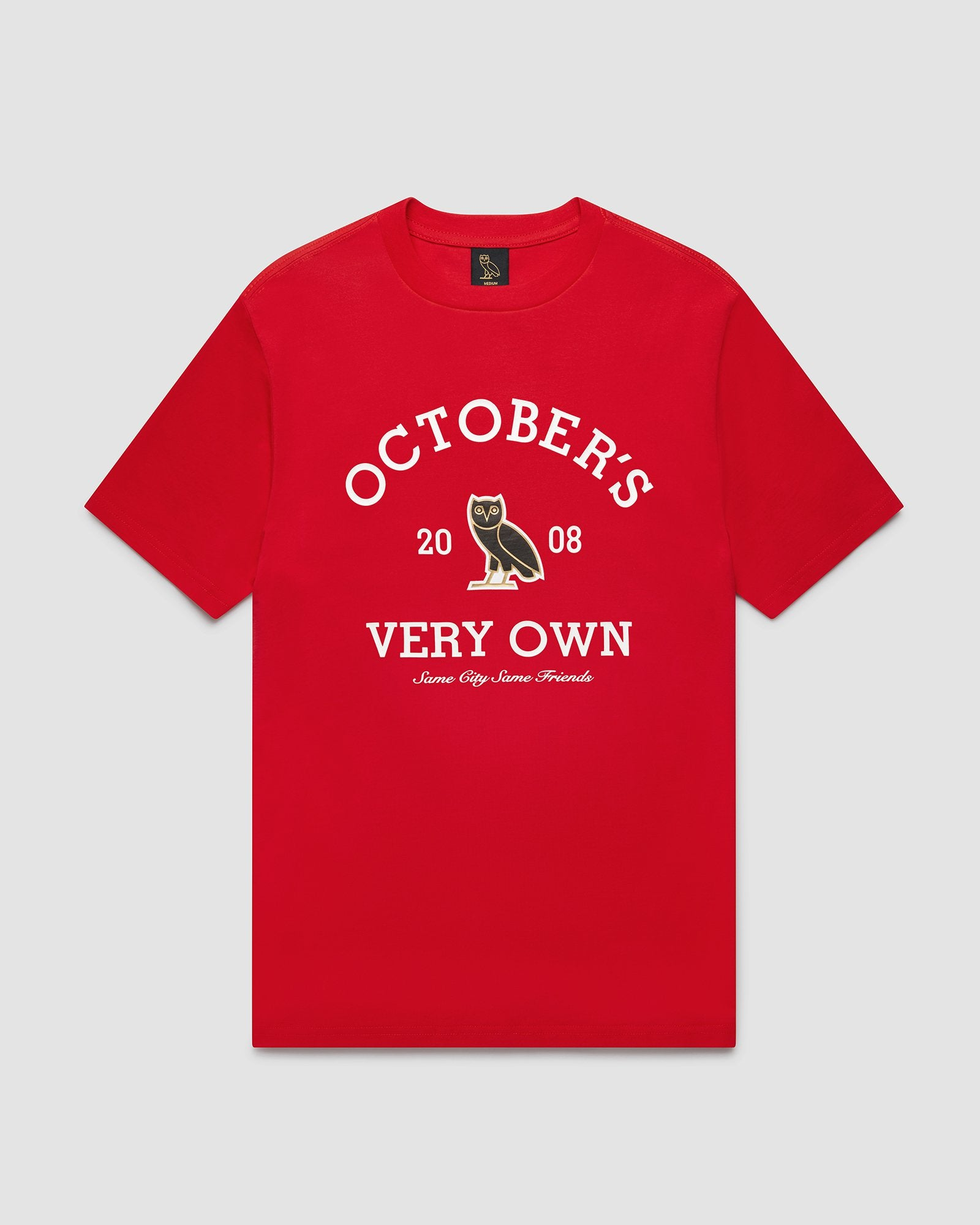 OVO COLLEGIATE T-SHIRT - RED IMAGE #1