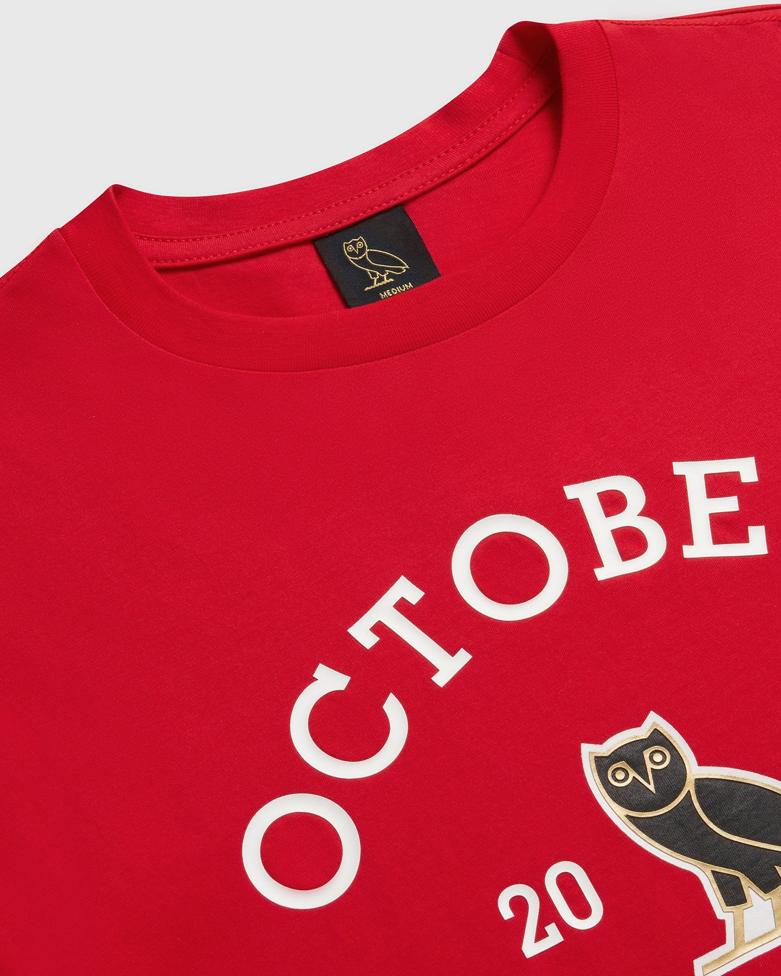 OVO COLLEGIATE T-SHIRT - RED IMAGE #2