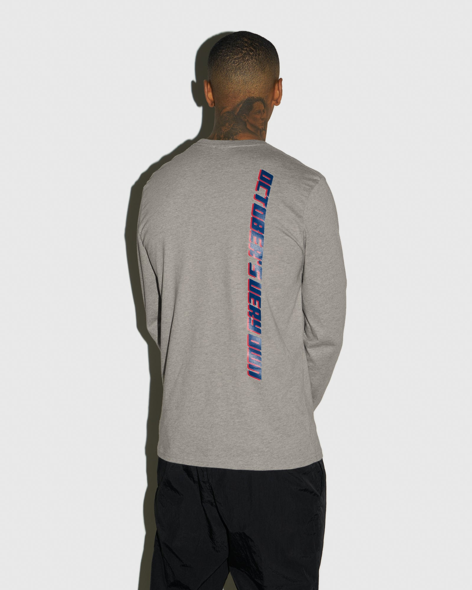 COMPETITION LONGSLEEVE T-SHIRT - HEATHER GREY IMAGE #3
