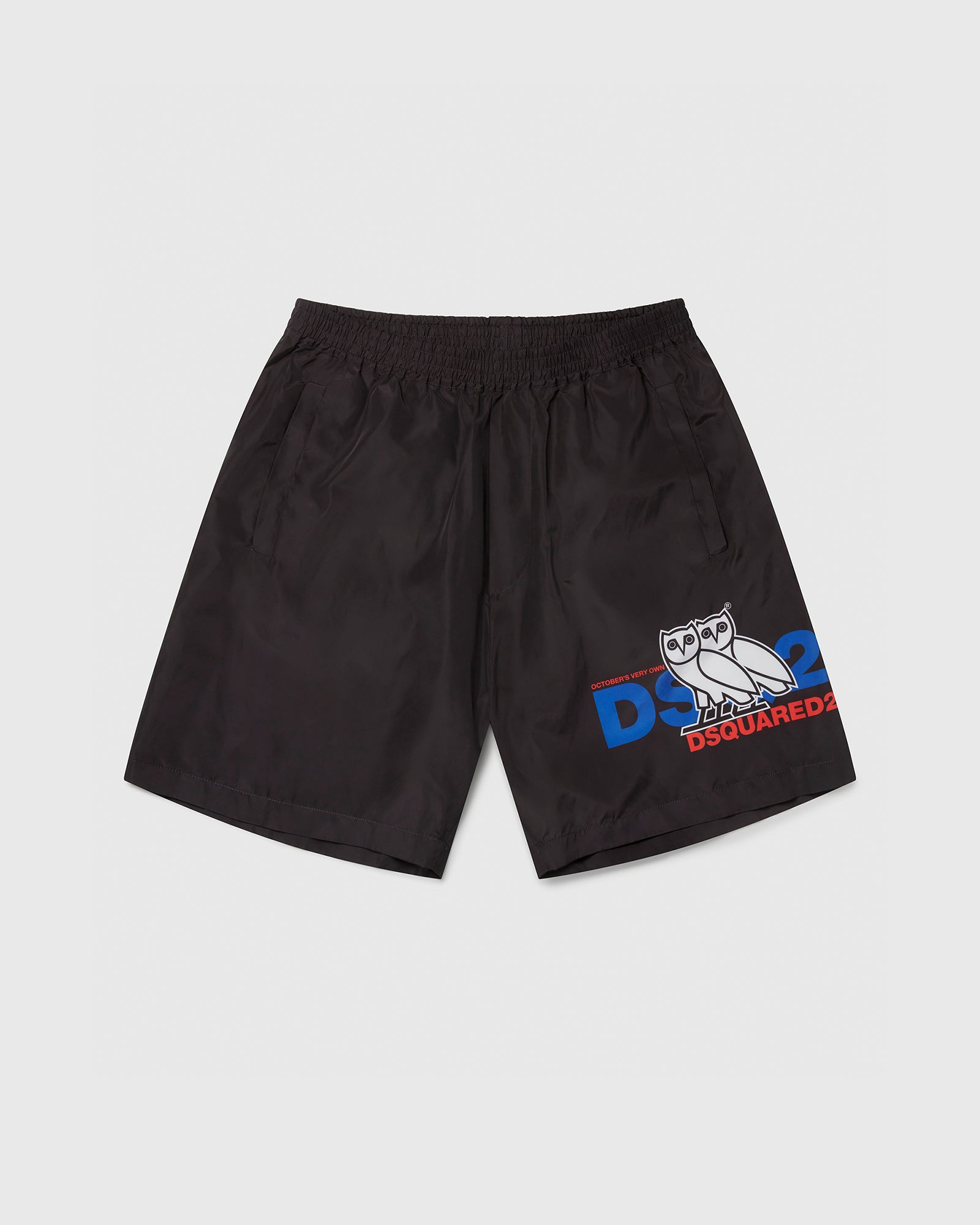 OVO X D2 NYLON SHORTS - BLACK IMAGE #1