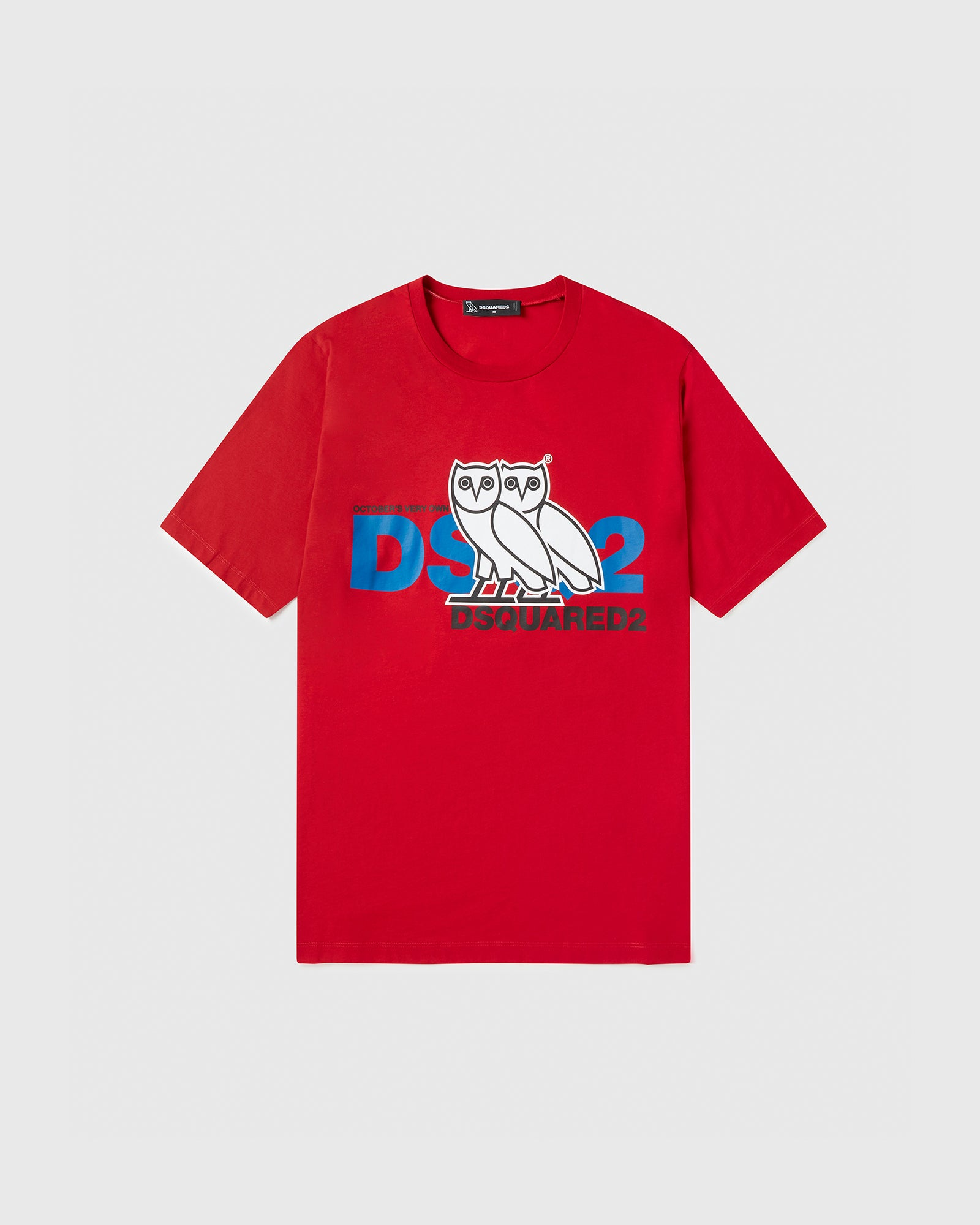 OVO X D2 T-SHIRT - RED IMAGE #1