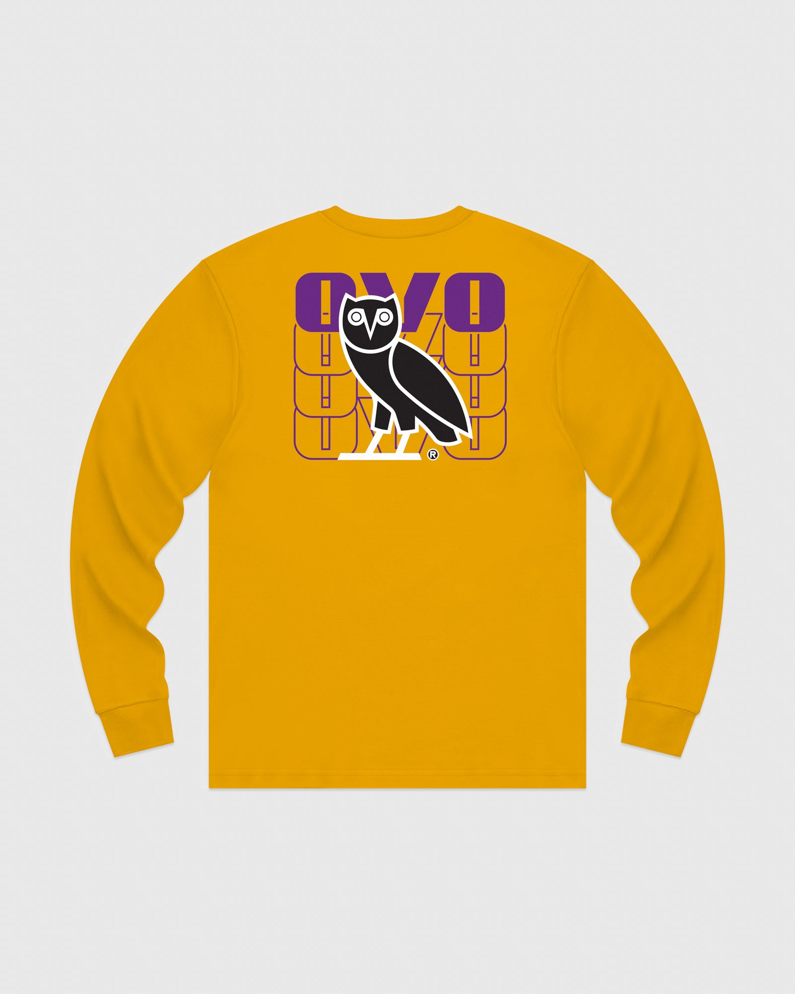 OVO ECHO LONGSLEEVE T-SHIRT - AUTUMN YELLOW IMAGE #5