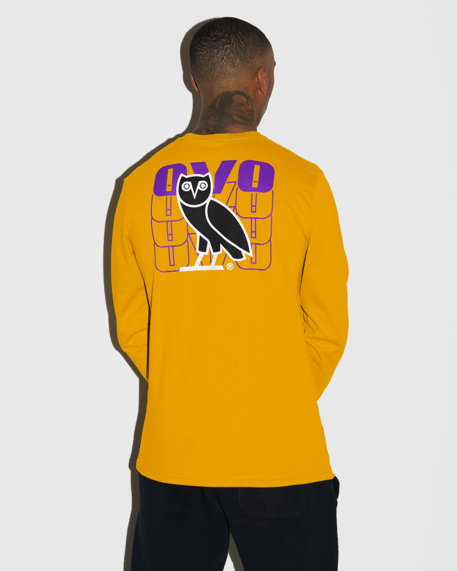 OVO ECHO LONGSLEEVE T-SHIRT - AUTUMN YELLOW IMAGE #3
