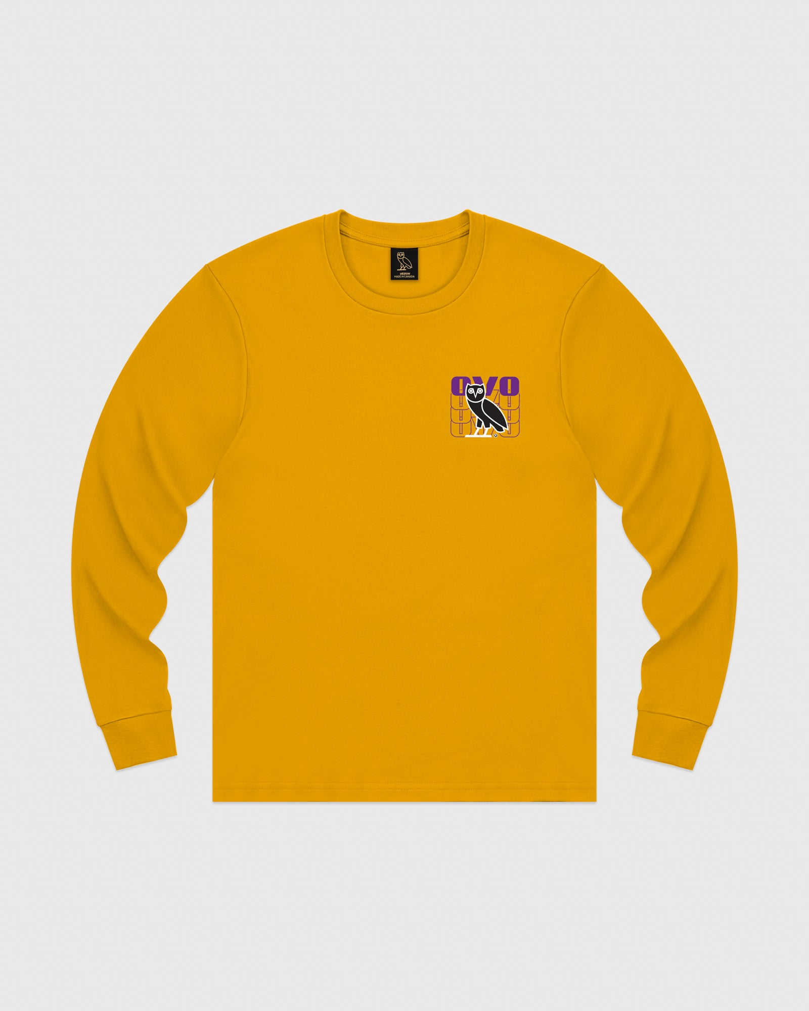 OVO ECHO LONGSLEEVE T-SHIRT - AUTUMN YELLOW IMAGE #1