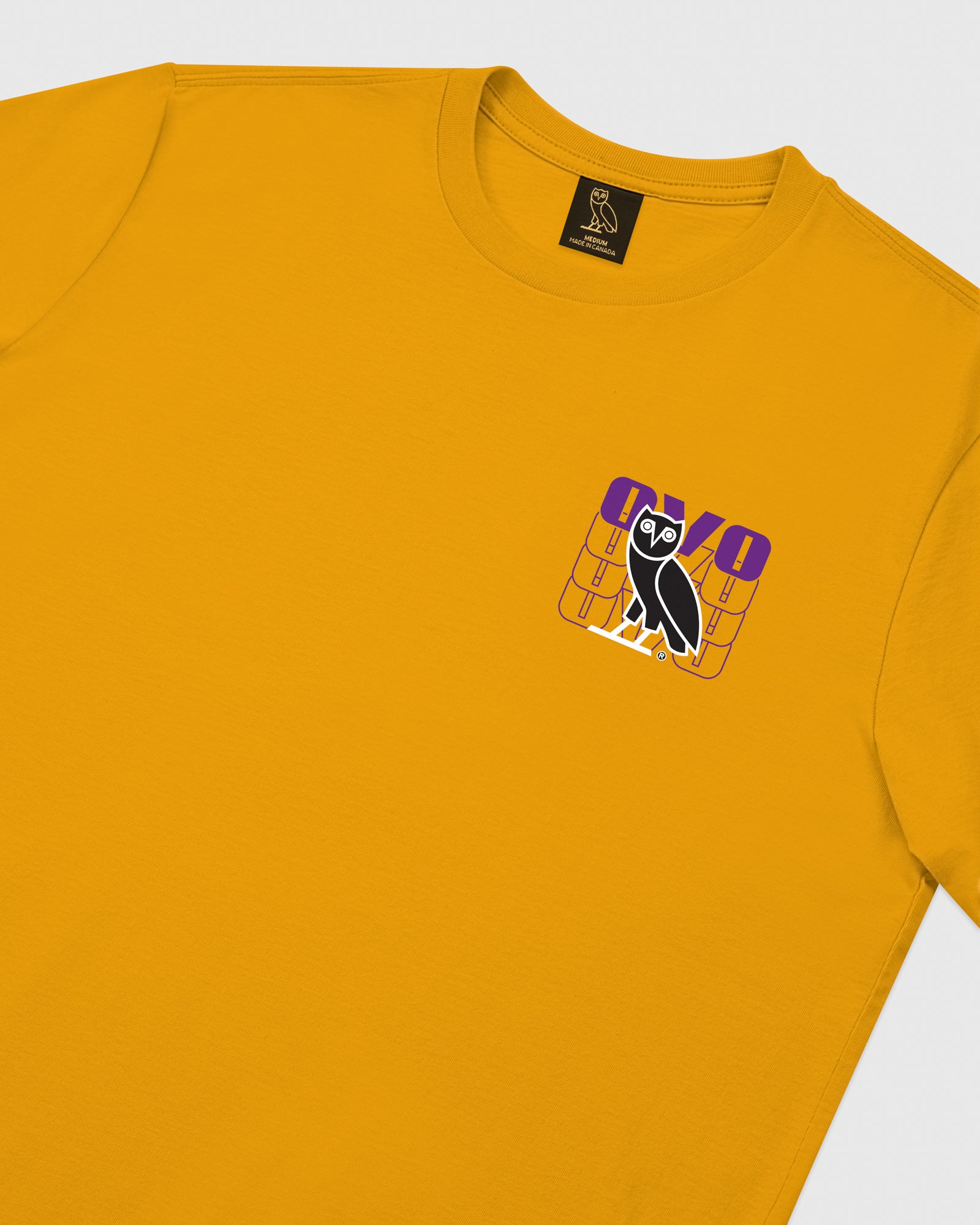 OVO ECHO LONGSLEEVE T-SHIRT - AUTUMN YELLOW IMAGE #4