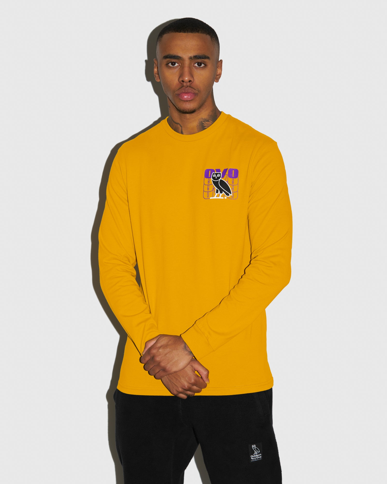 OVO ECHO LONGSLEEVE T-SHIRT - AUTUMN YELLOW IMAGE #2