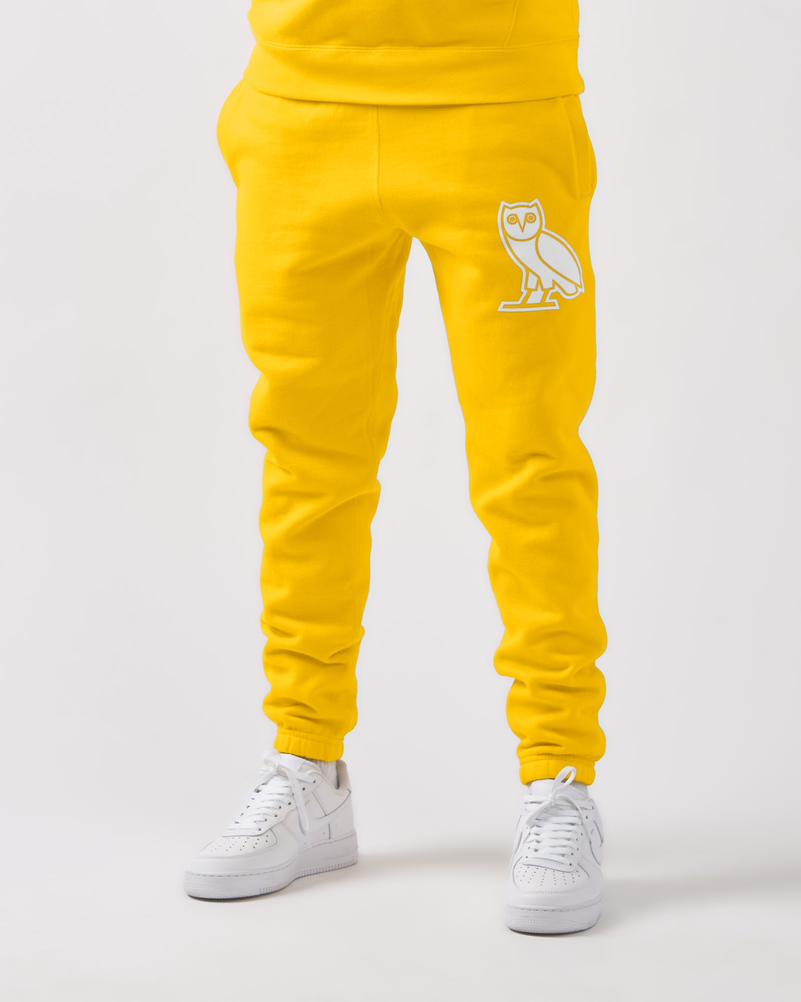 FLOCK TEAM OWL SWEATPANT - CANARY IMAGE #3