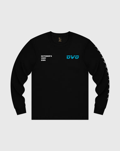 GEO RUNNER LONGSLEEVE T-SHIRT - BLACK