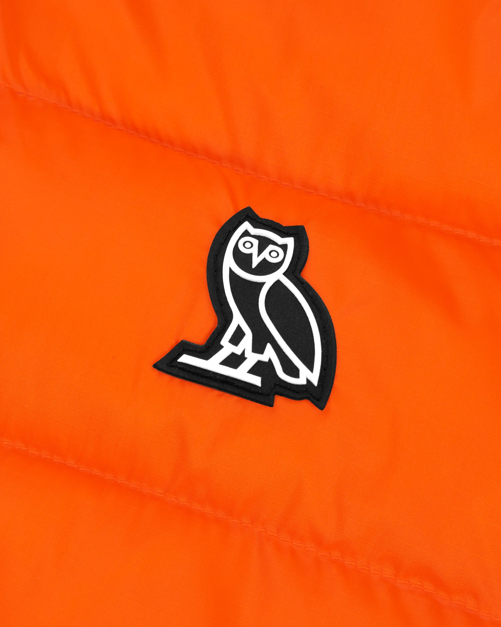 HOODED PUFFER JACKET - ORANGE IMAGE #3