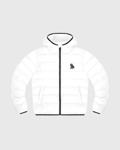HOODED PUFFER JACKET - WHITE