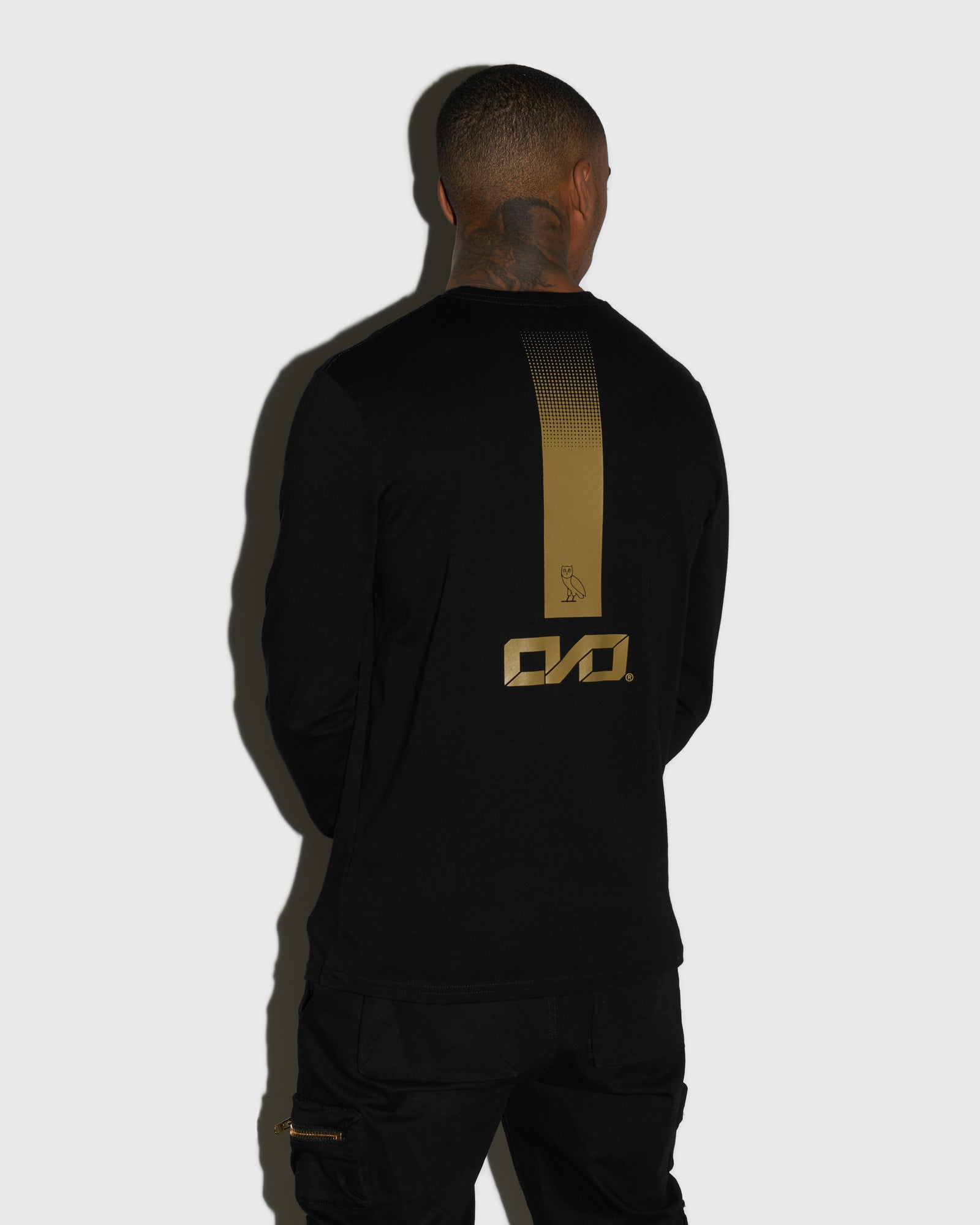 OVO INDUSTRIES LONGSLEEVE T-SHIRT - BLACK IMAGE #3