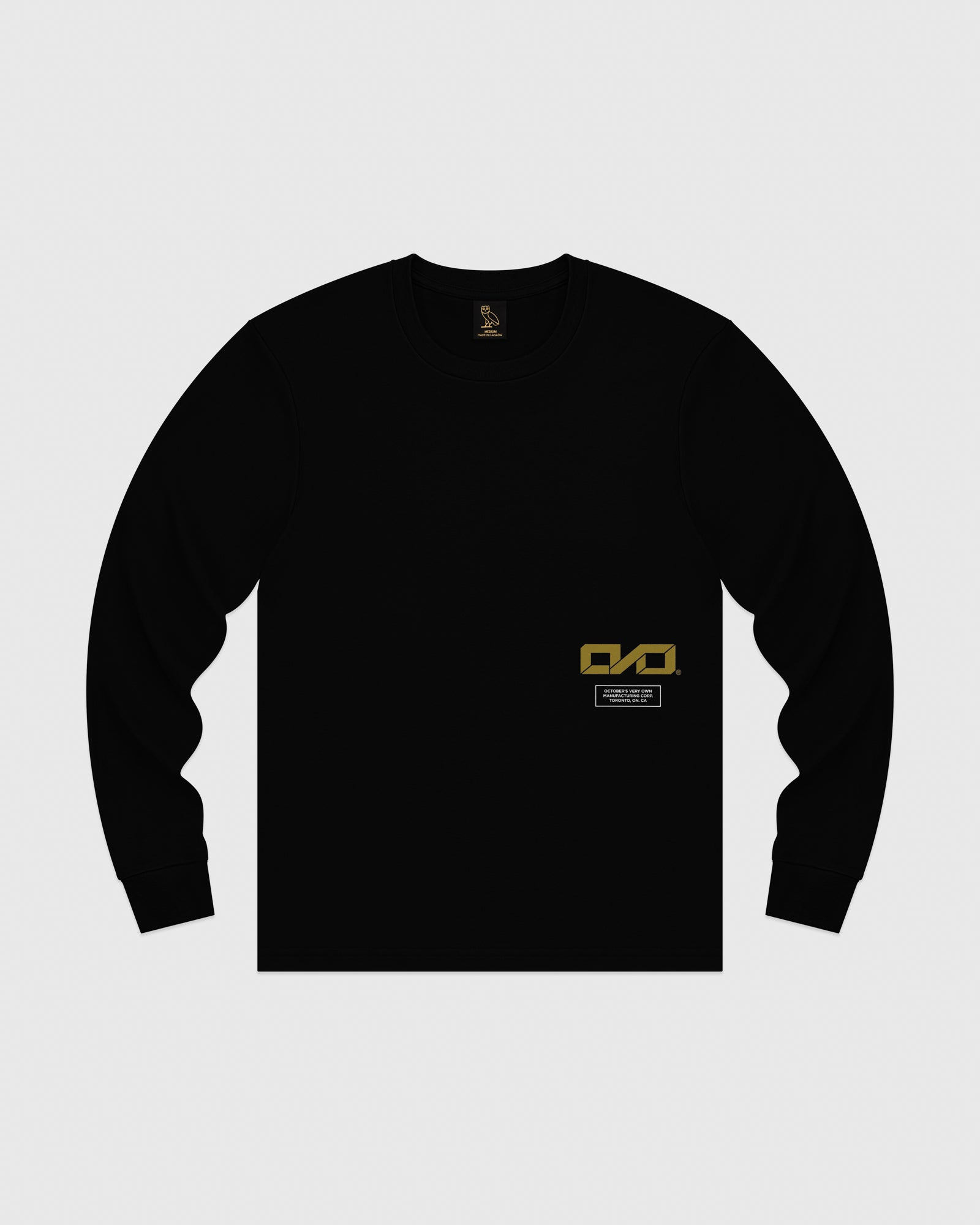 OVO INDUSTRIES LONGSLEEVE T-SHIRT - BLACK IMAGE #1