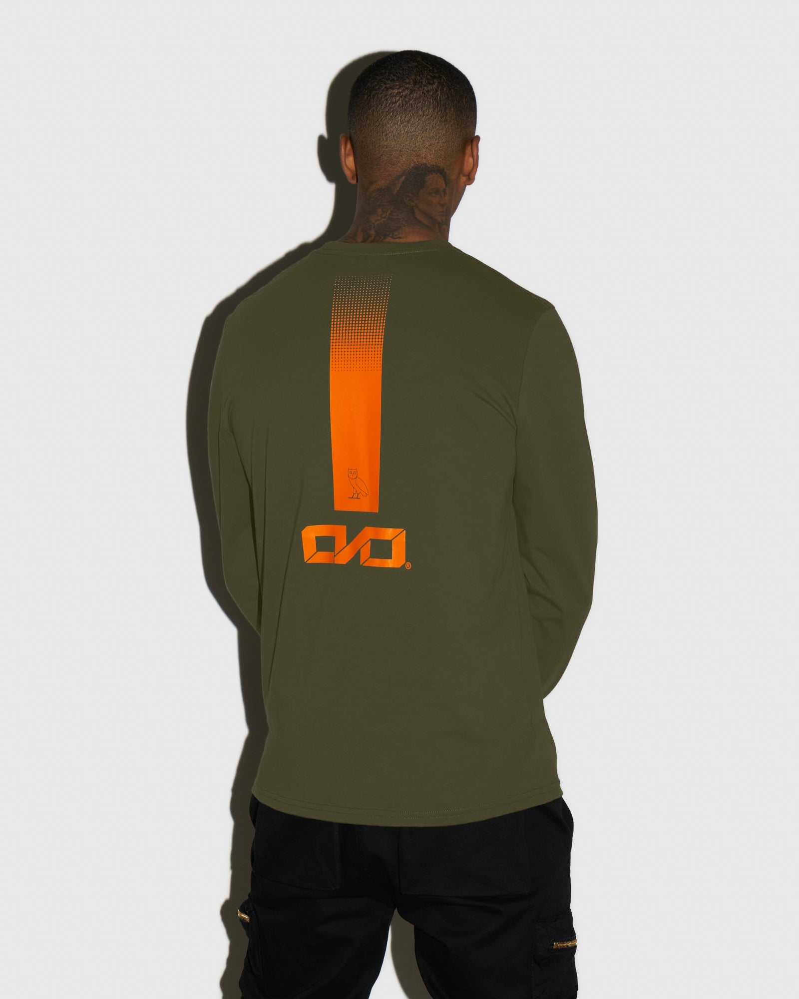 OVO INDUSTRIES LONGSLEEVE T-SHIRT - LEAF GREEN IMAGE #3